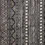 acheter tapis deco cuir noir et blanc