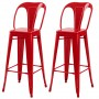 achat chaise bar indus rouge