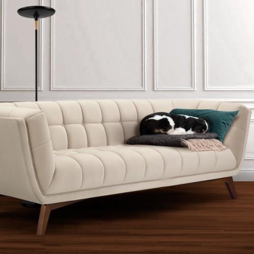 Canapé Mona 3 places en velours beige