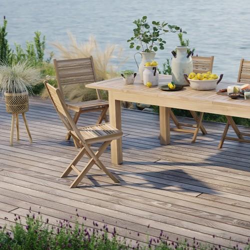 Chaise de jardin pliante Nido (lot de 2)