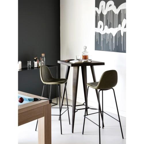 Chaise de bar Henrik marron clair 75 cm (lot de 2)