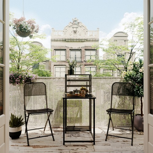 Ensemble table de balcon + 2 chaises Legend