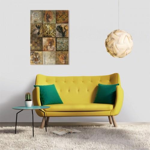 Tableau en verre acrylique Safari 50 x 70cm