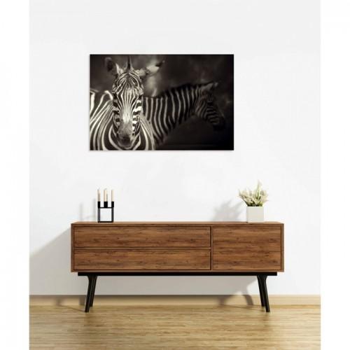 Tableau en verre acrylique Zebra 90 x 60 cm