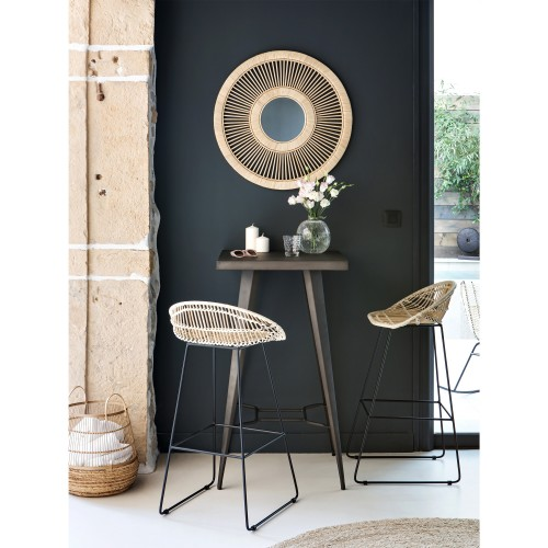 Chaise de bar Lotus en rotin 77 cm (lot de 2)