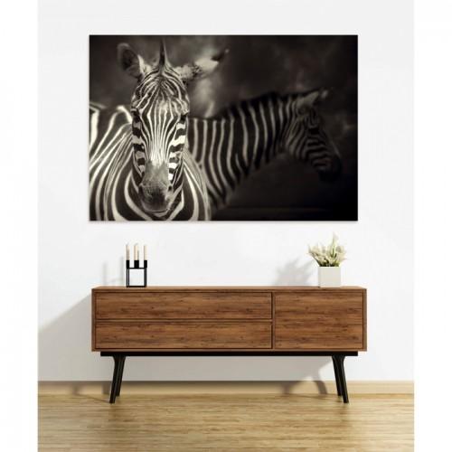 Tableau en verre acrylique Zebra 130 x 90 cm