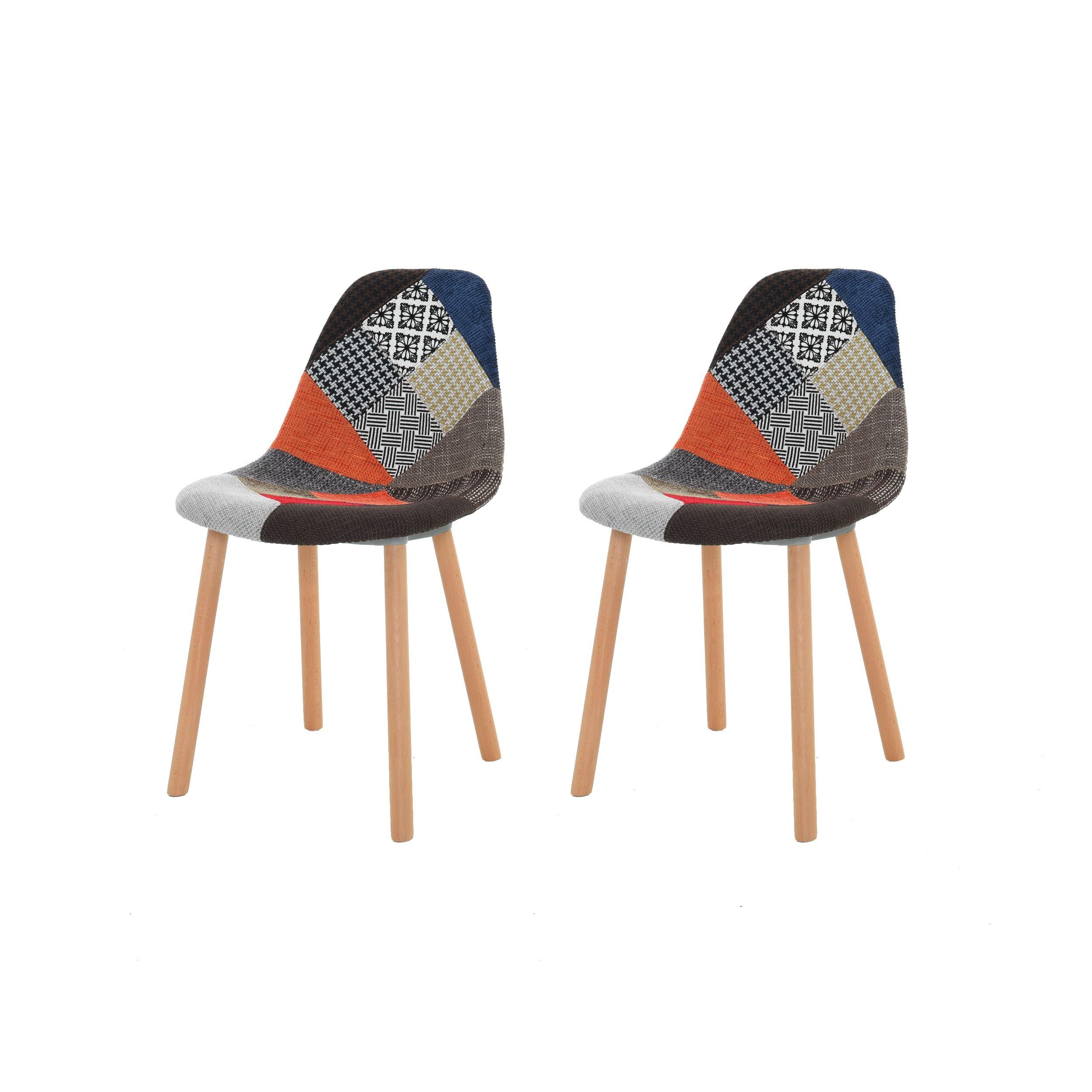 chaise arctik patchwork lot de 2 commandez nos chaises arctik patchwork design rdv d co. Black Bedroom Furniture Sets. Home Design Ideas