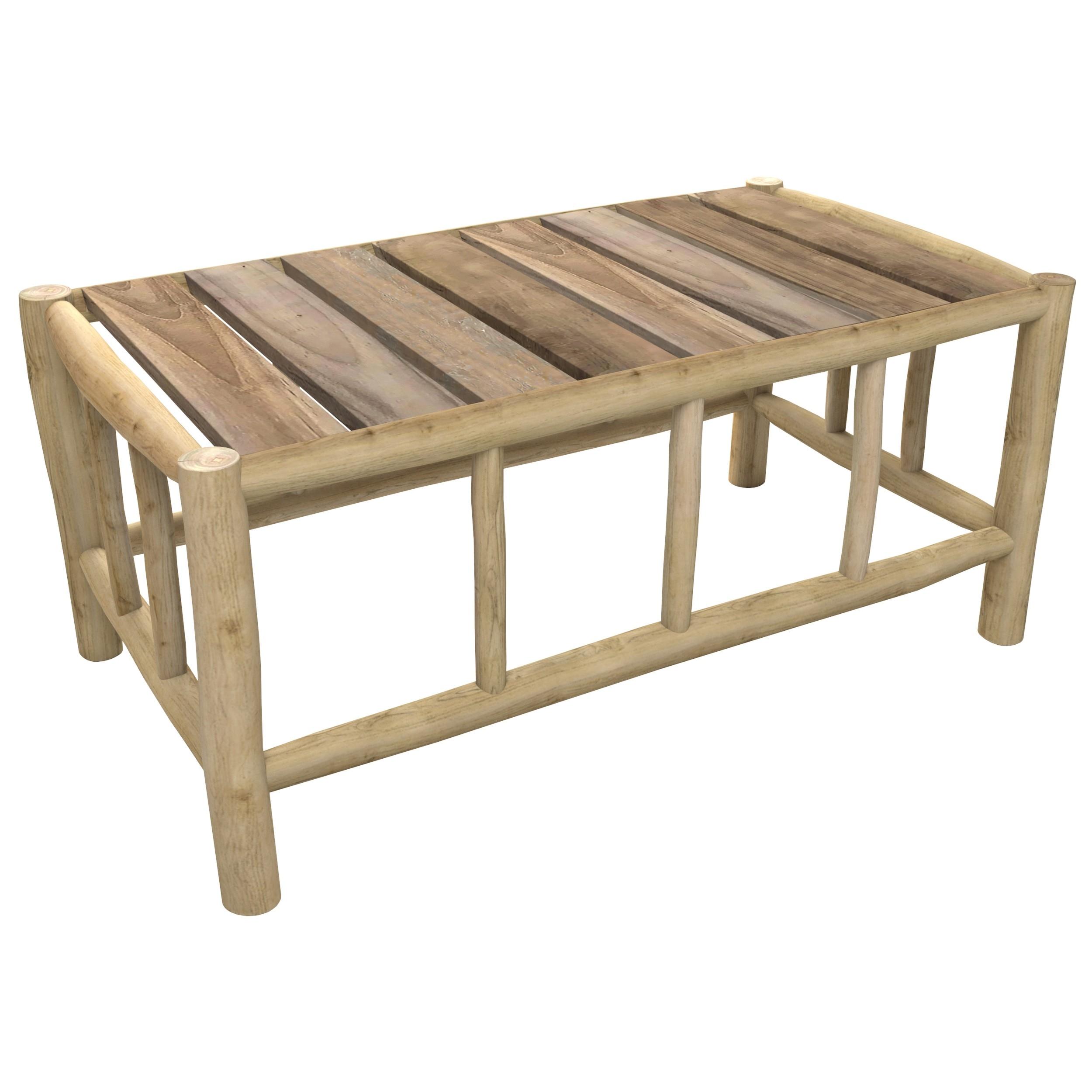 achat table basse en bois rectangulaire