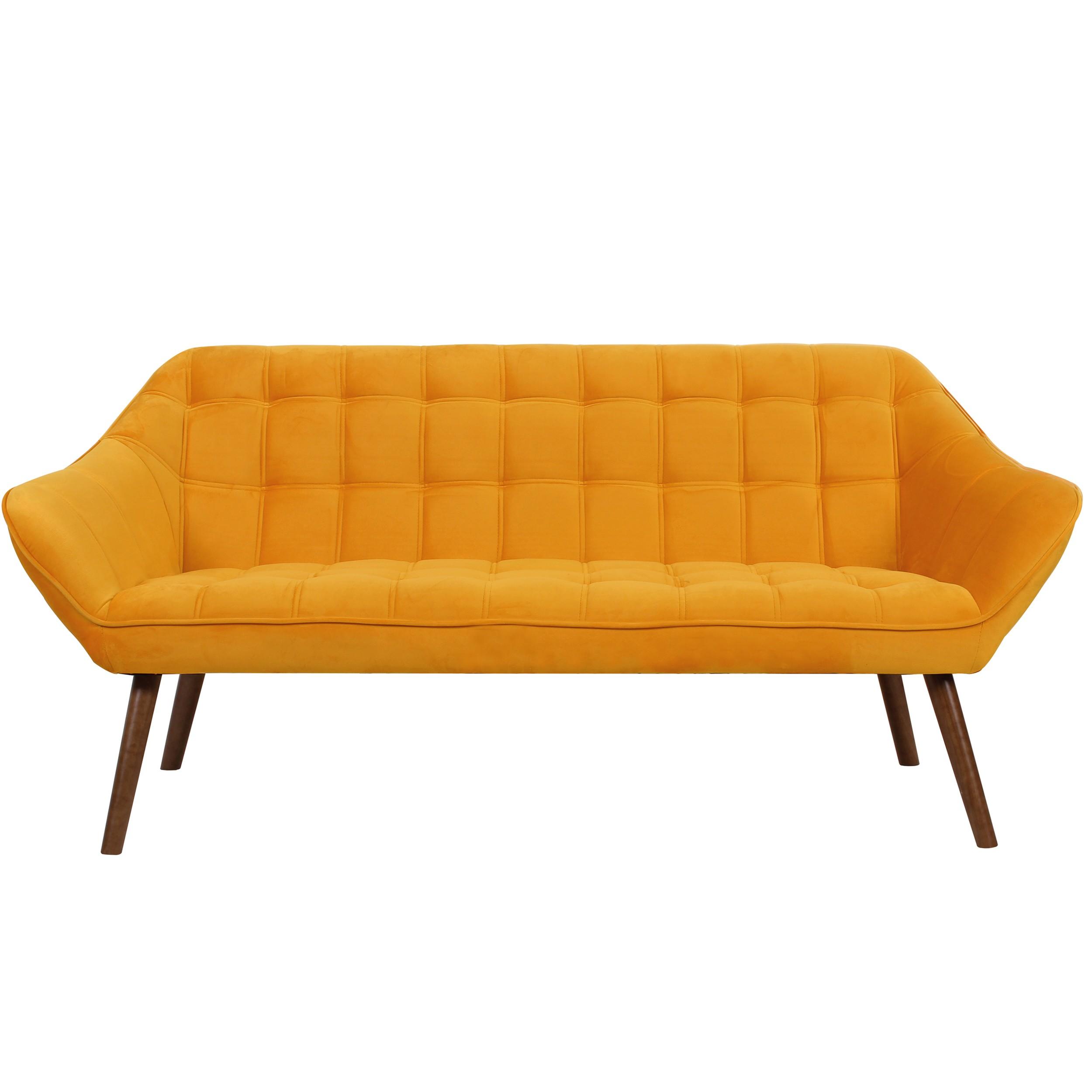 acheter canape 3 places jaune orange