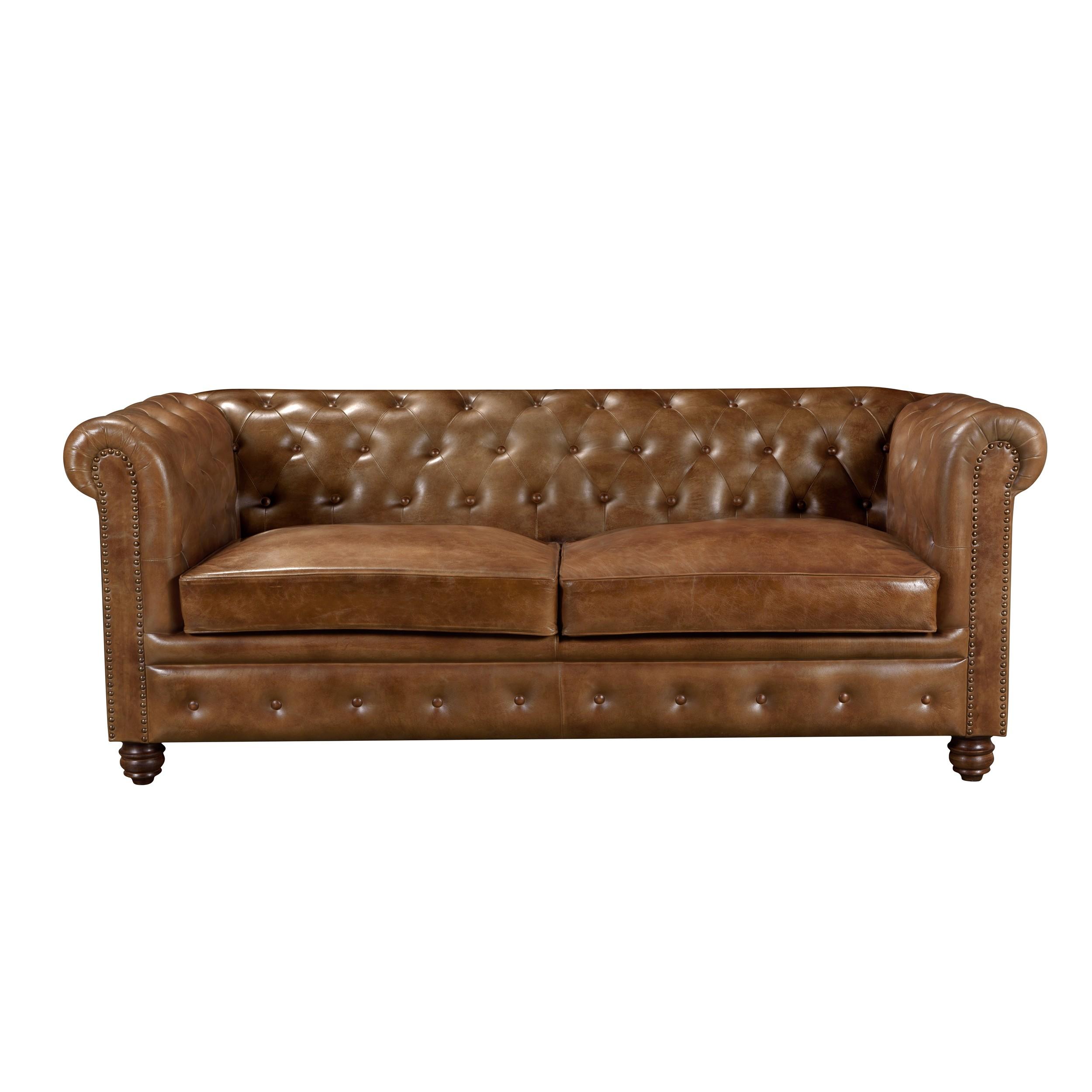 acheter canape en cuir chesterfeld marron
