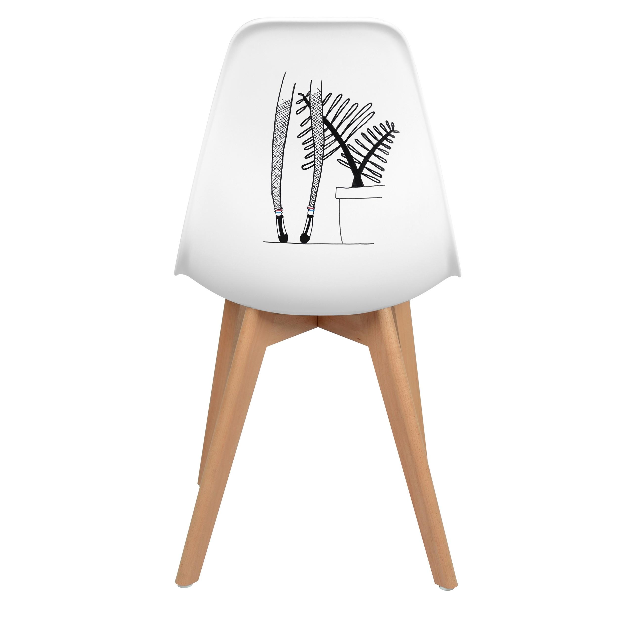 acheter chaise blanche d artiste lilloise skandi