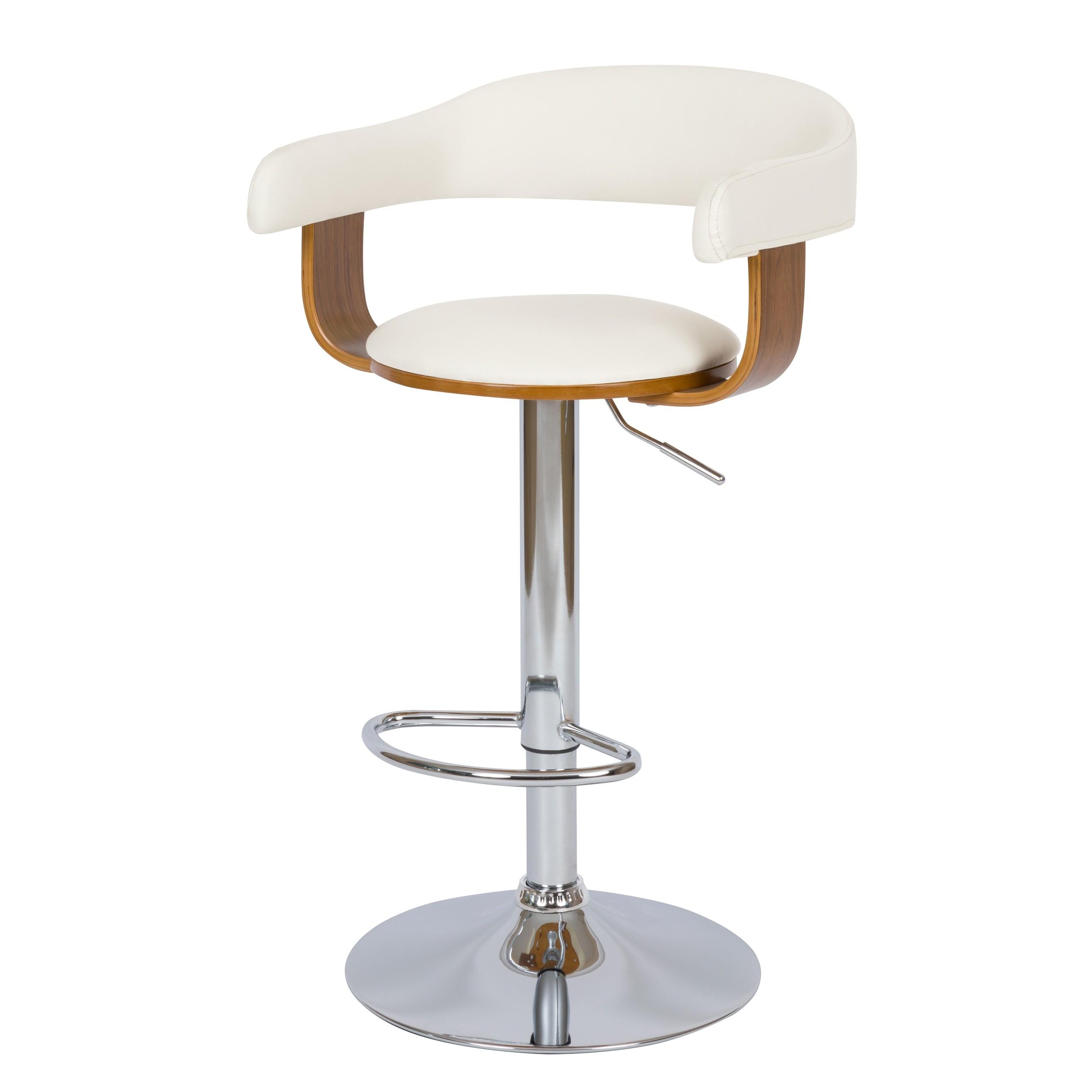 acheter chaise de bar blanche pieds metal gris