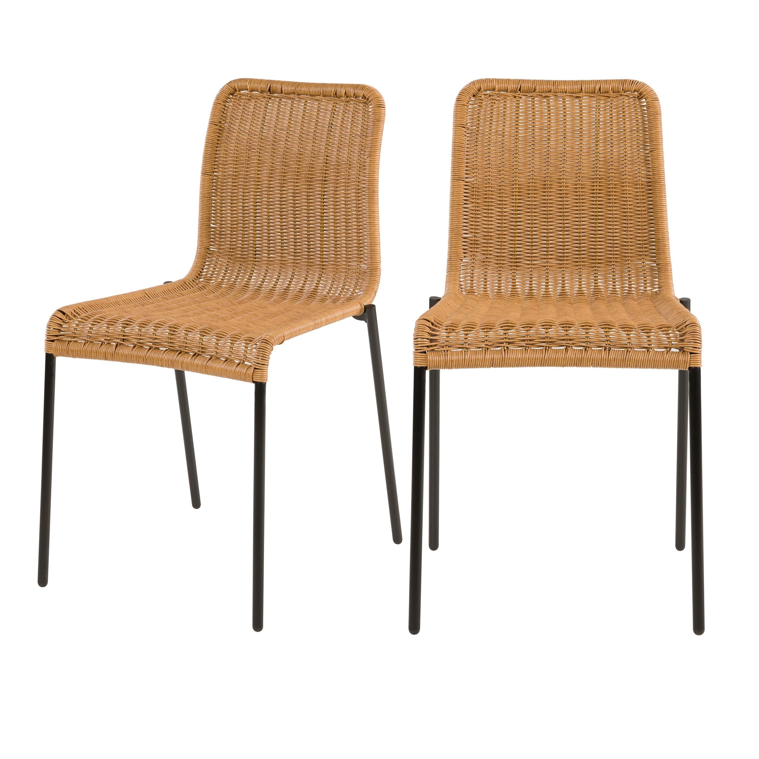 acheter chaise en resine naturelle lot de deux