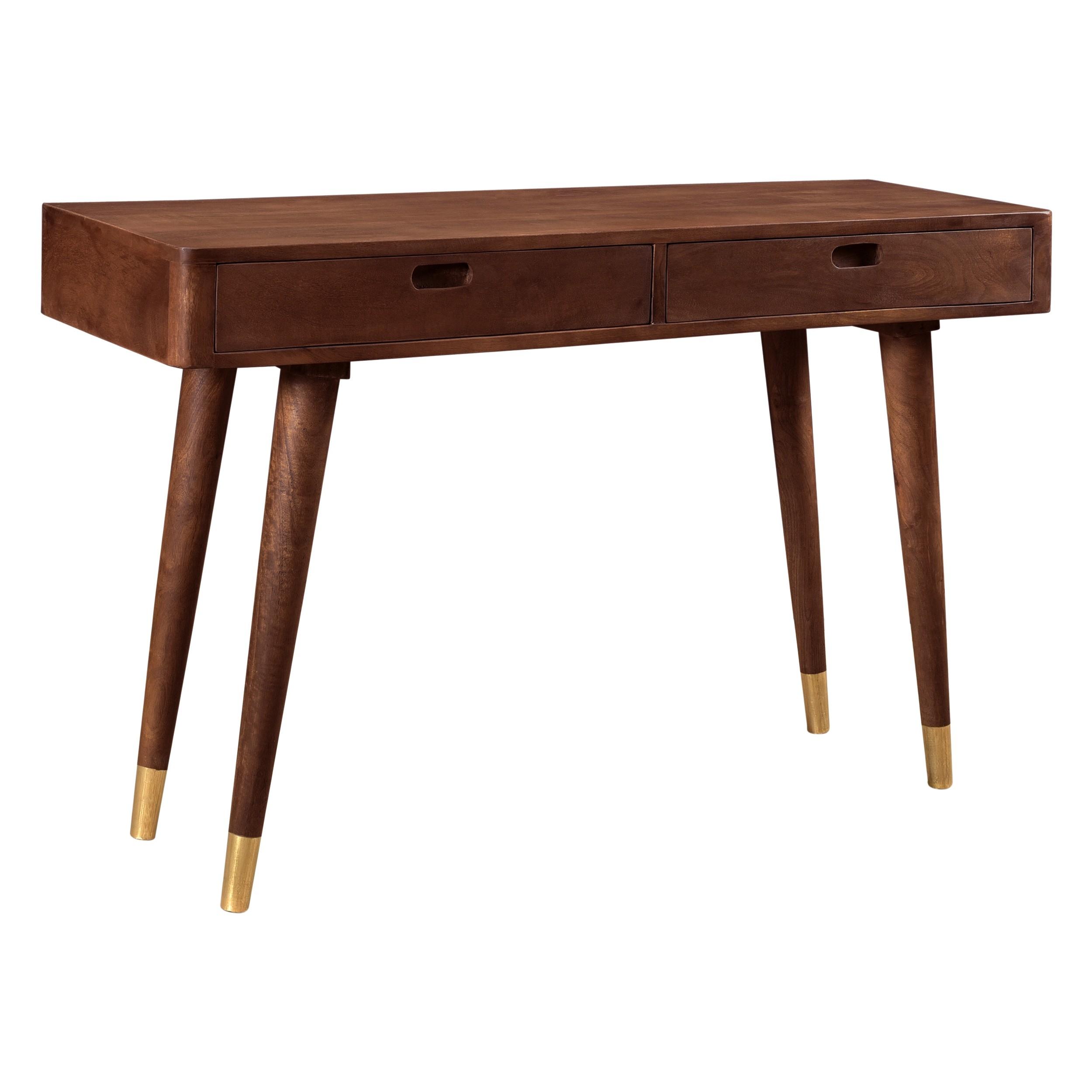 acheter console bois fonce 2 tiroirs