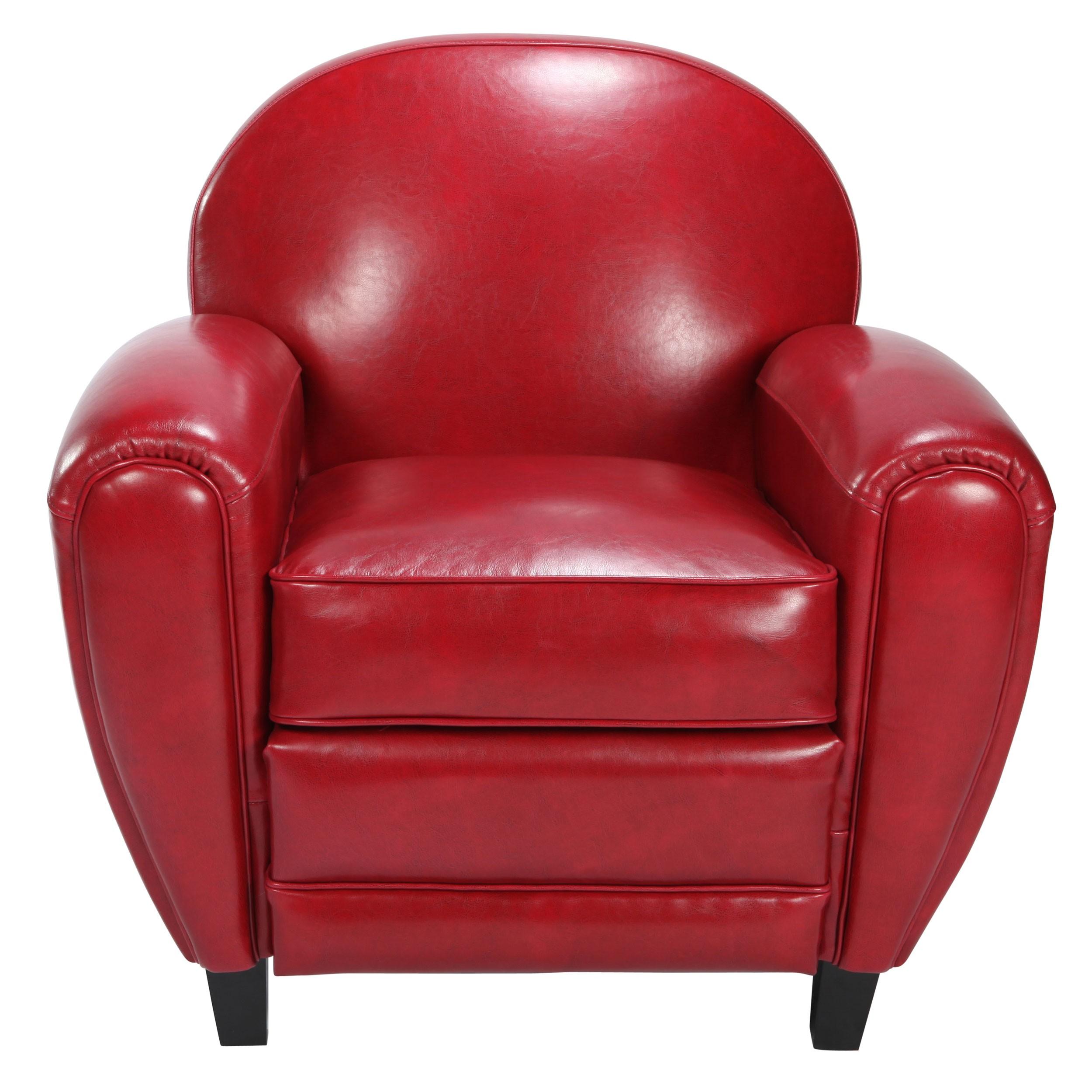 acheter fauteuil club rouge