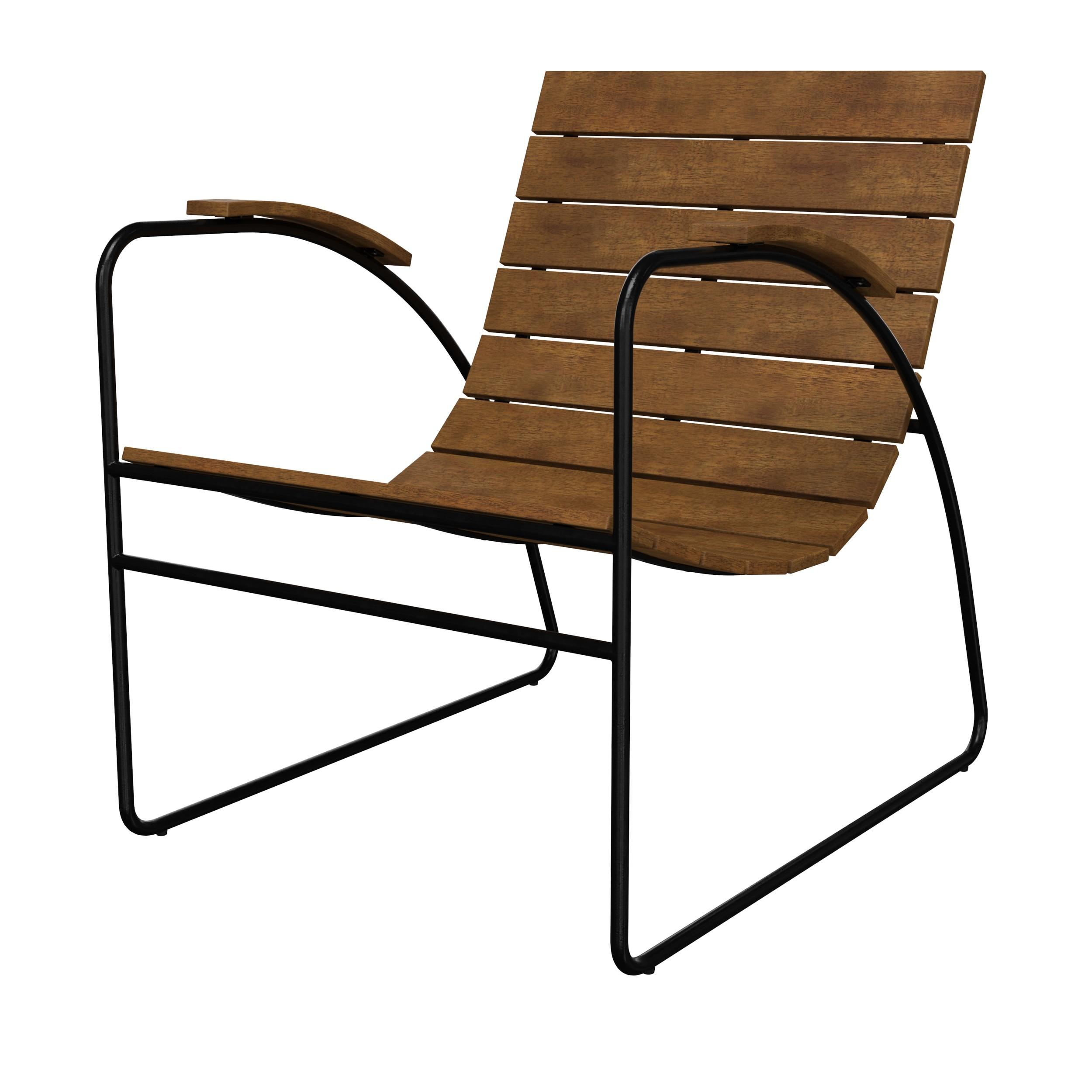 acheter fauteuil d exterieur en bois fonce