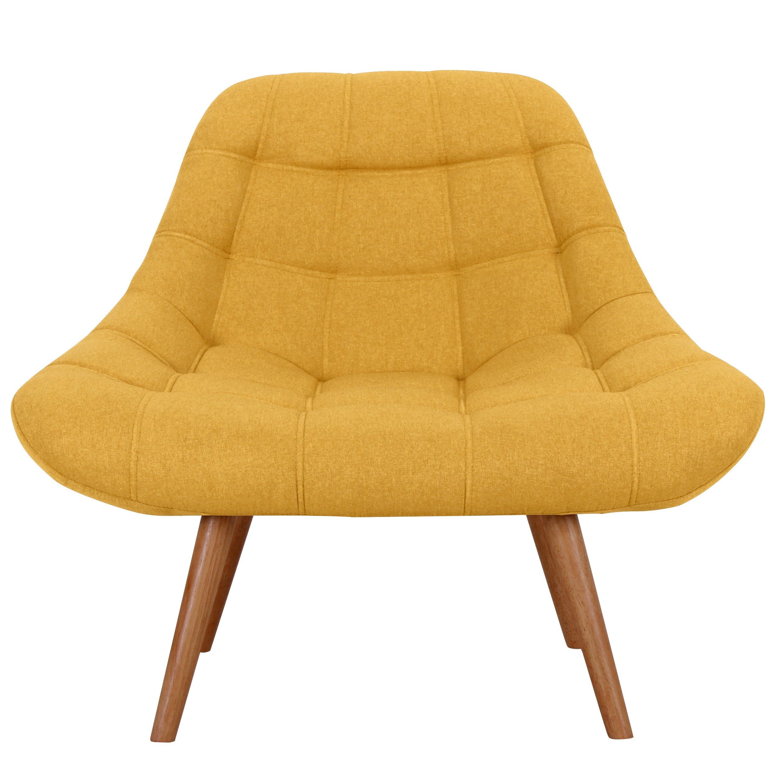acheter fauteuil jaune tissu pieds bois