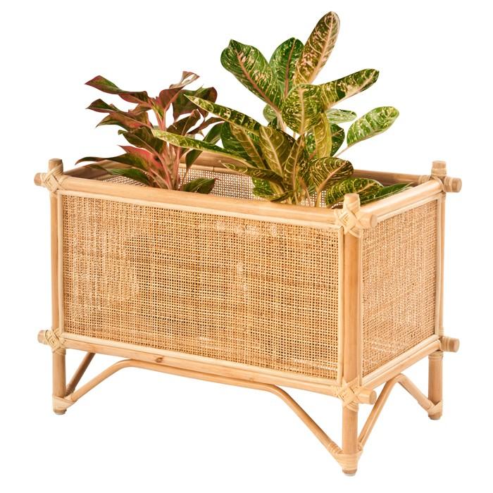 acheter jardiniere rectangulaire en rotin