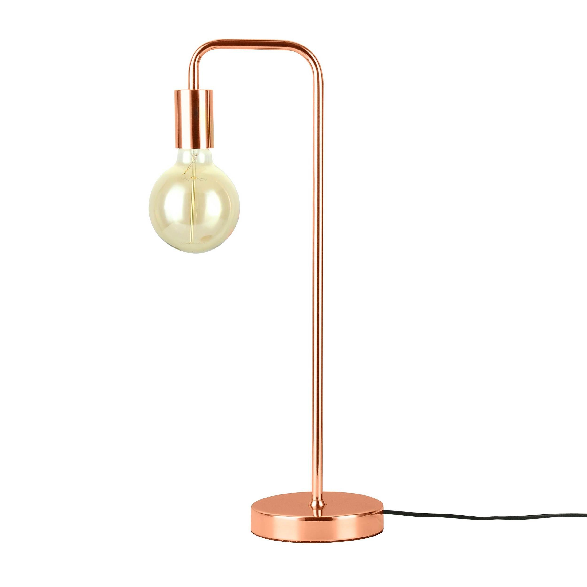 acheter lampe design metal finition cuivre