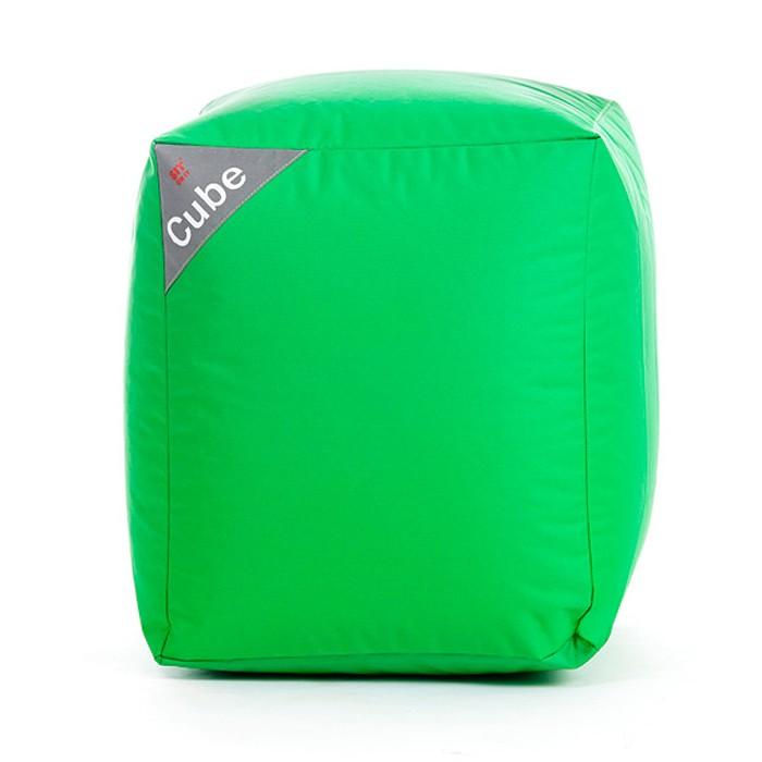 acheter pouf cube vert carre