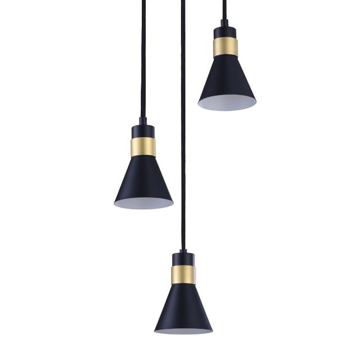 acheter suspension noire 3 lampes