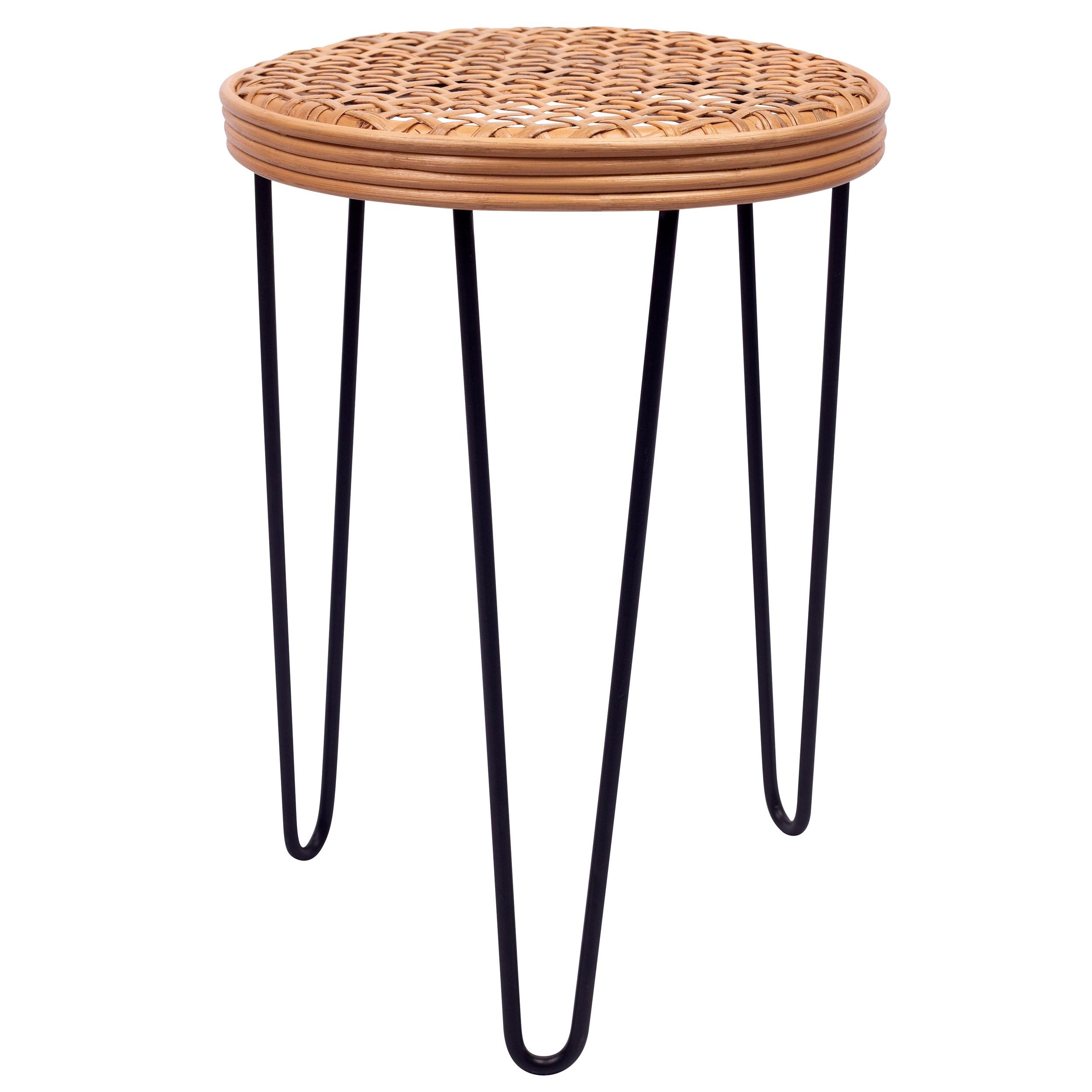acheter table basse en rotin tresse