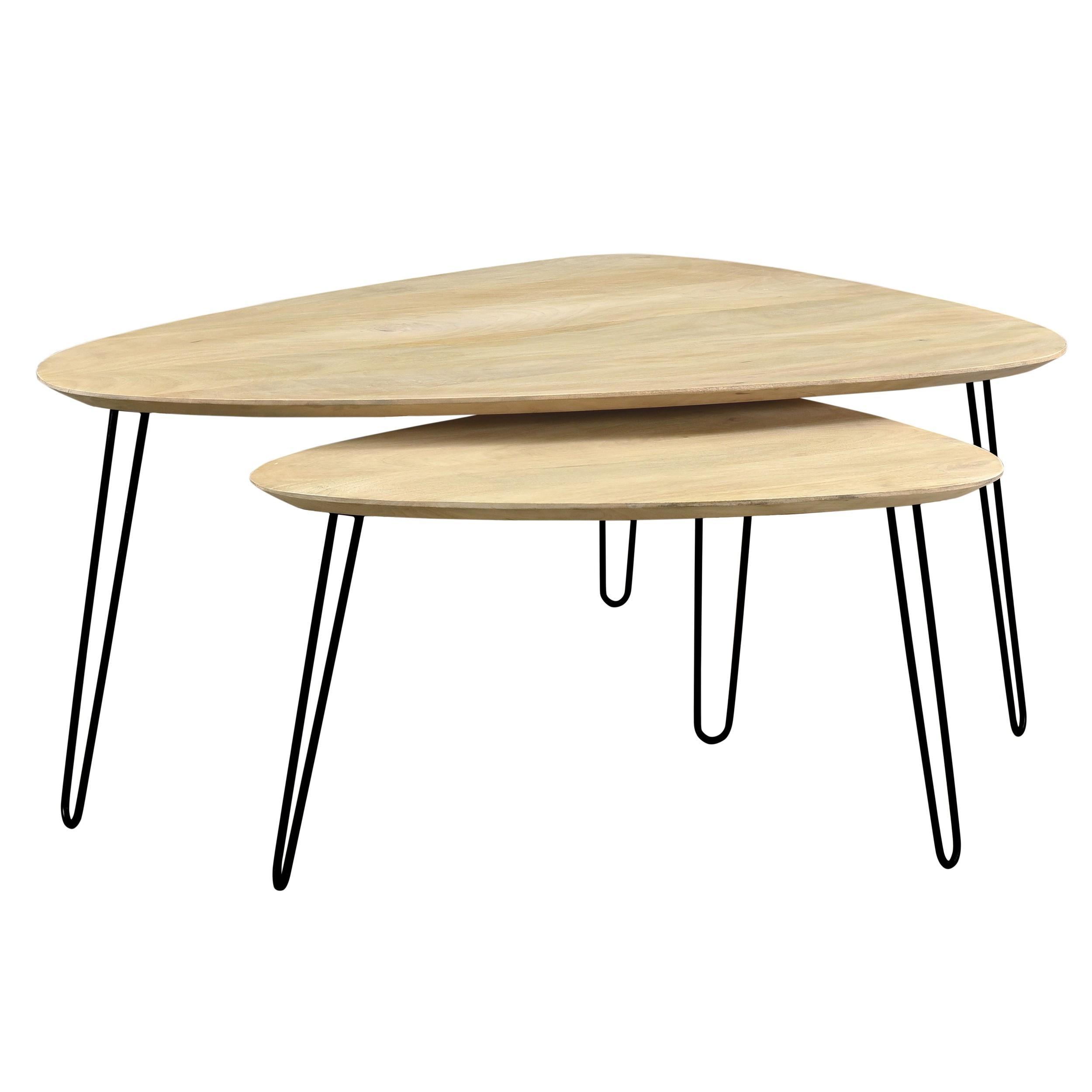 Table Basse Gigogne Bois.Tables Basses Gigognes Scandinaves Riga Lot De 2