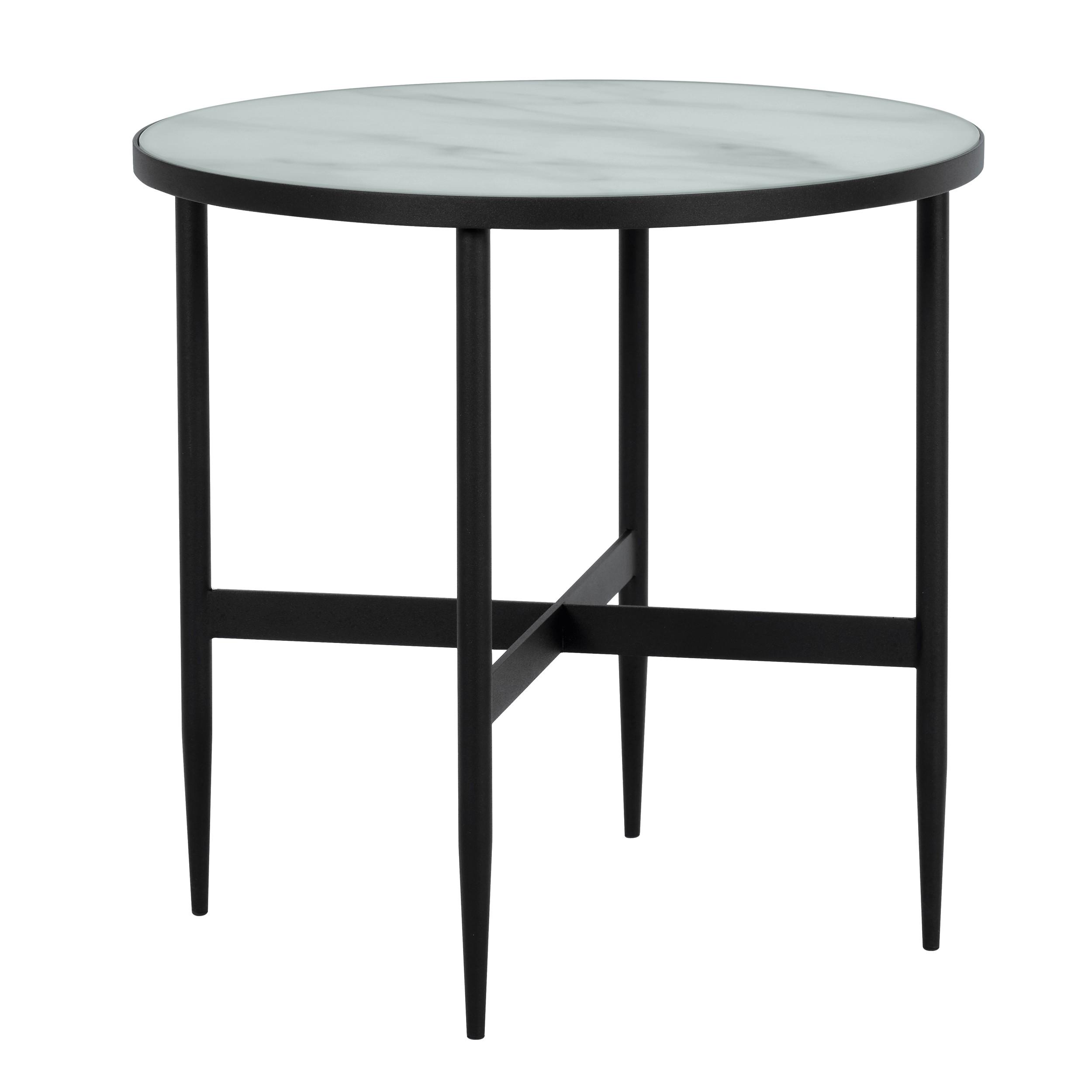 acheter table basse noire ronde 50 cm