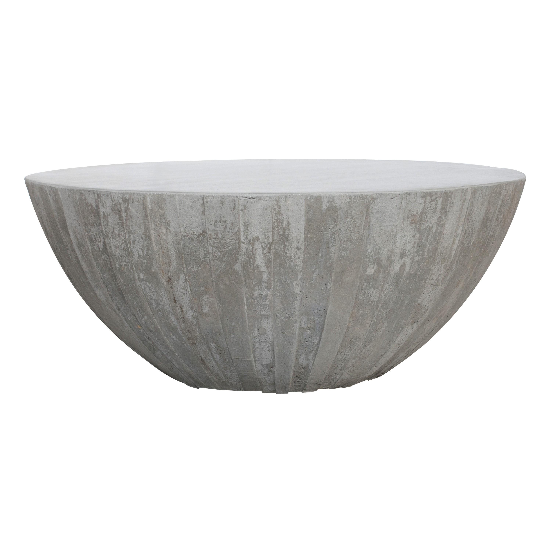 acheter table basse ronde en beton