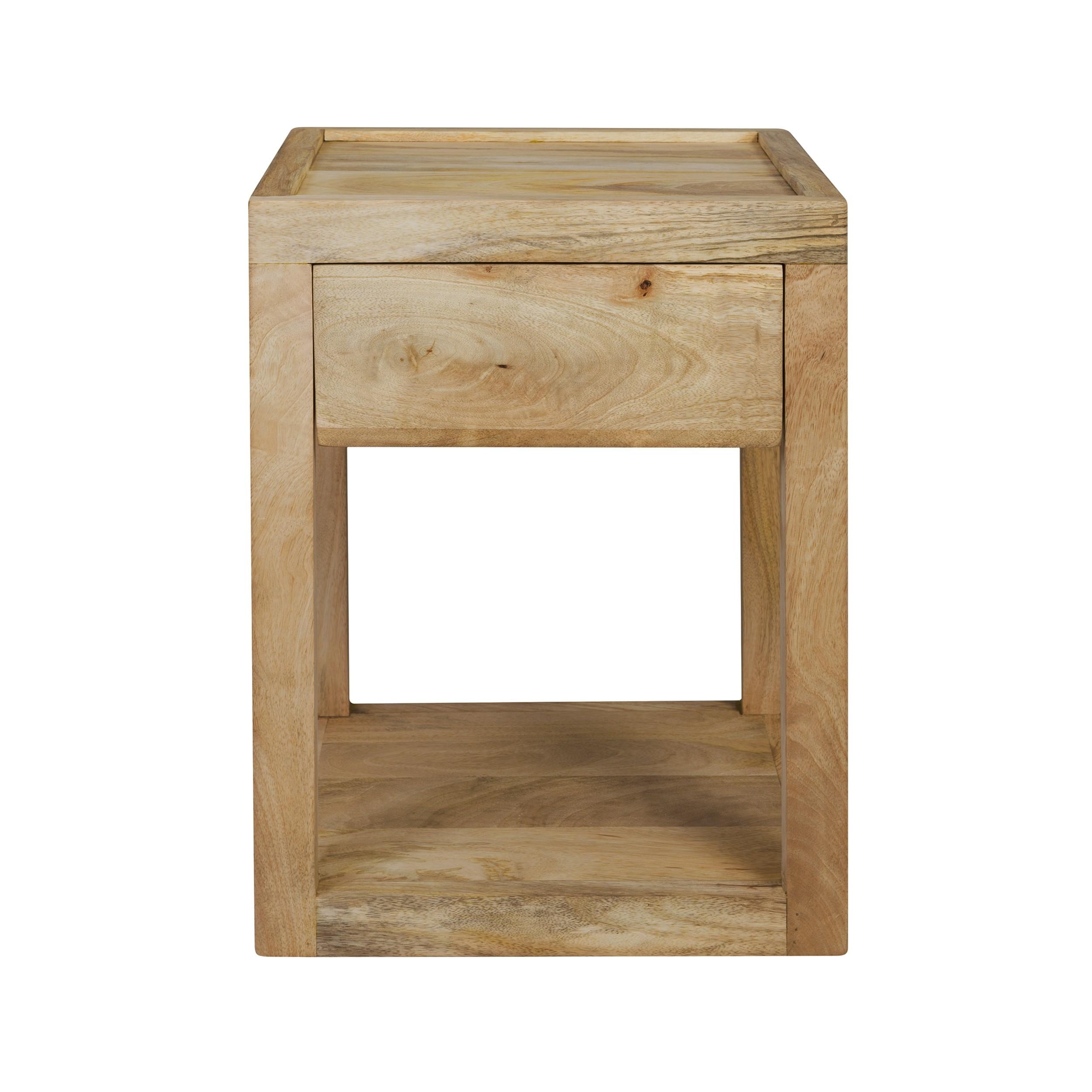 acheter table de chevet bois de manguier