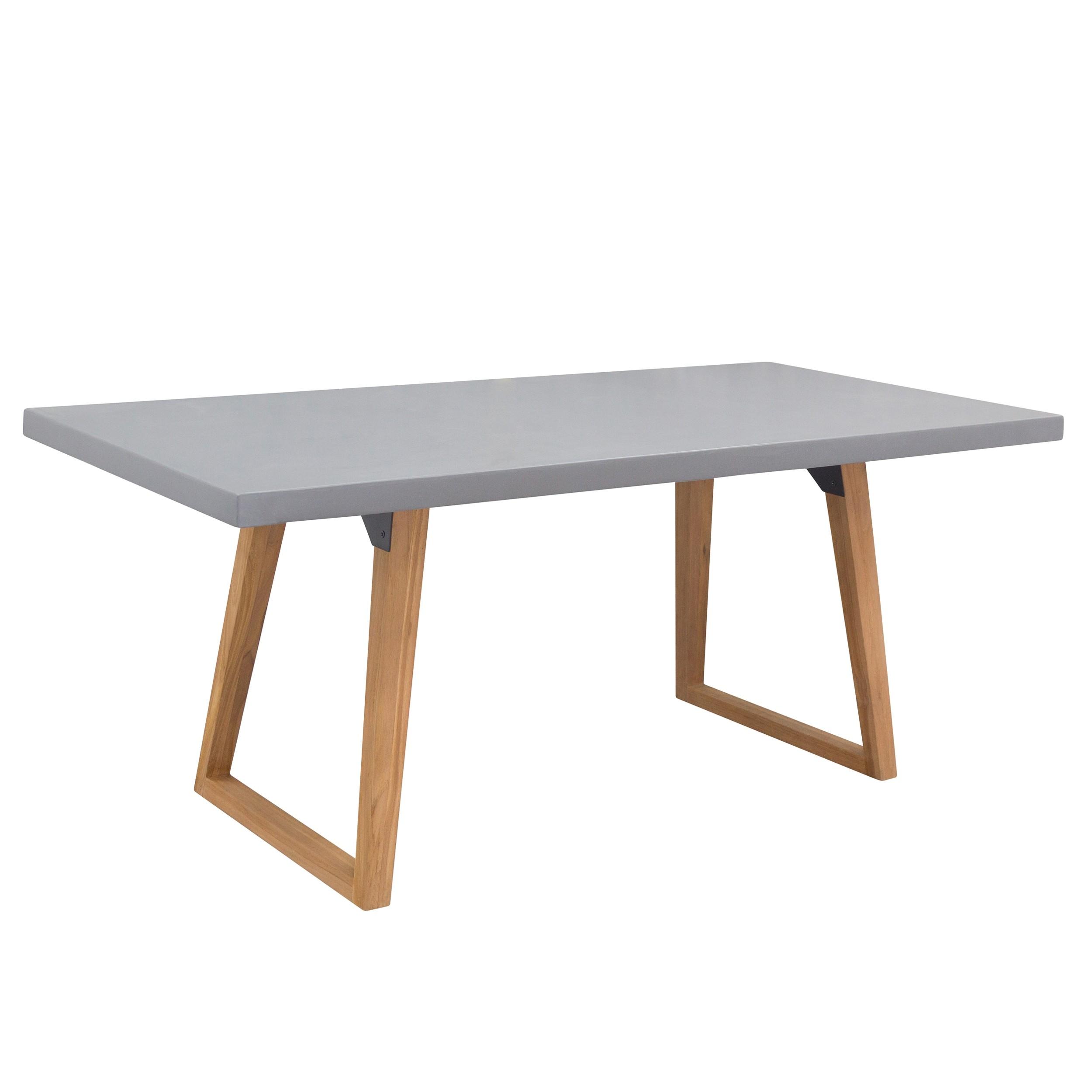 acheter table rectangulaire 180 cm en beton