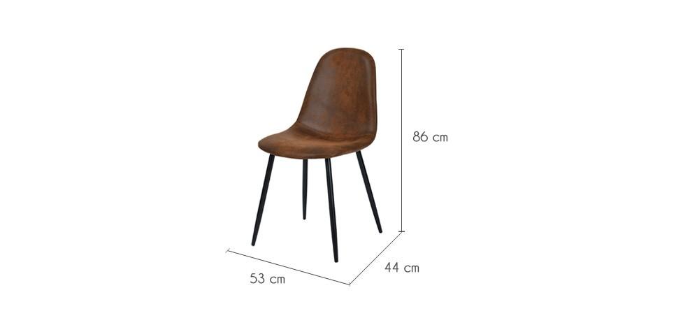 chaise malrik marron vieilli lot de 2 achetez nos chaises malrik marron vieilli lot de 2. Black Bedroom Furniture Sets. Home Design Ideas