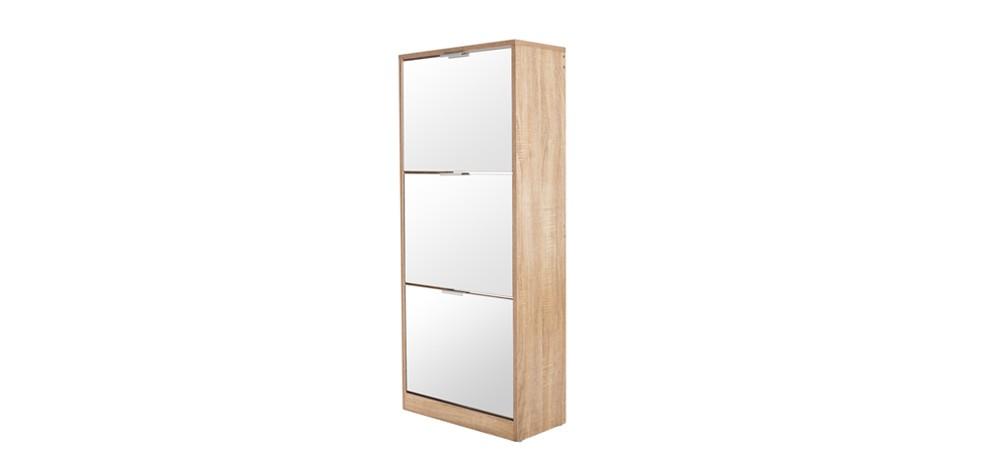 meuble chaussures 3 tiroirs avec miroir scandinave achetez nos meubles chaussures 3. Black Bedroom Furniture Sets. Home Design Ideas