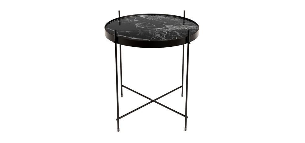 table basse marbre noir design
