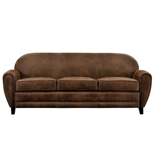achat canape cuir vieilli 3 places