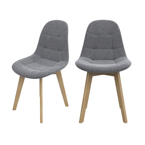 achat chaise assise tissus gris molletonne