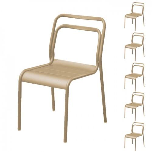achat chaise beige de jardin