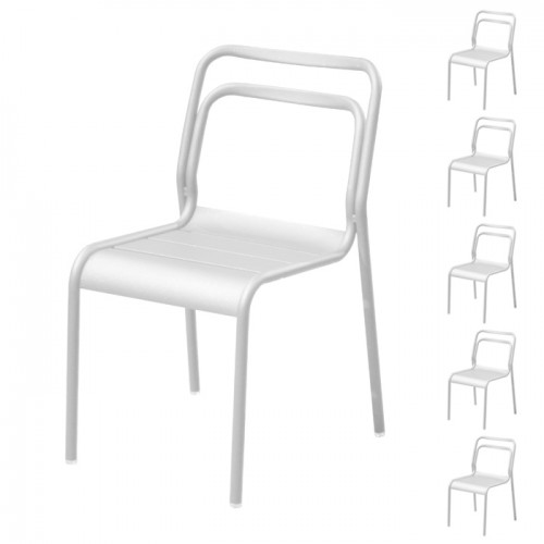 achat chaise lot de 6 blanc design