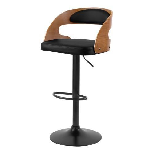 achat chaise pivotante en bois fonce metal mat