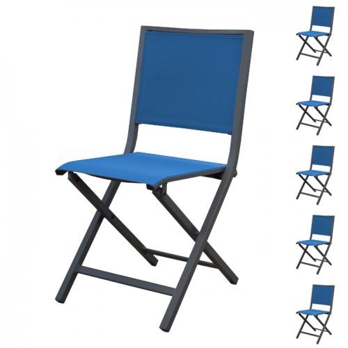 achat chaise pliante bleue de jardin