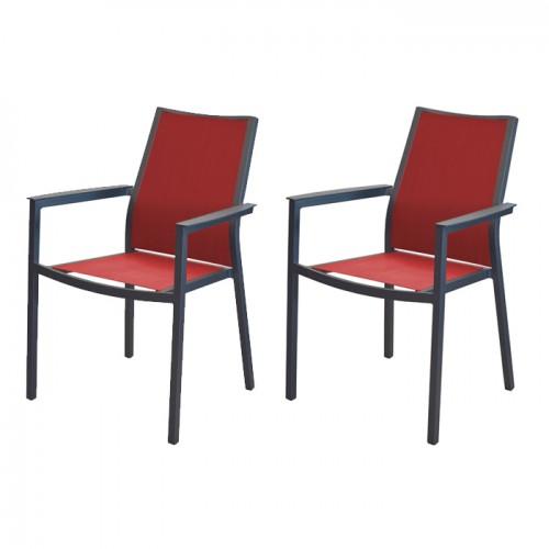 achat fauteuil confortable rouge aluminium