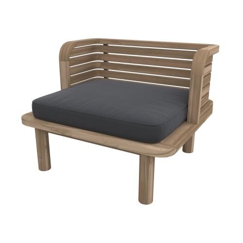 achat fauteuil de jardin en bois et tissu