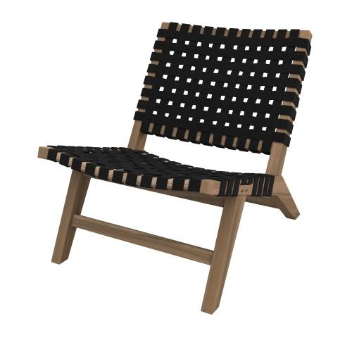 achat fauteuil en teck et tissu
