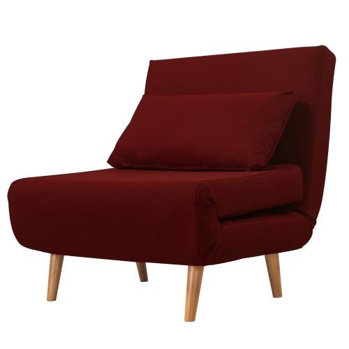 achat fauteuil pliable bordeaux avec coussin