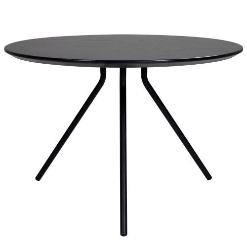 achat table basse plateau rond noir