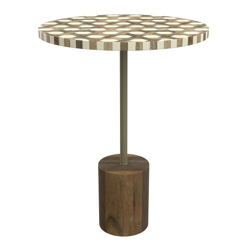 achat table d appoint bois metal resine