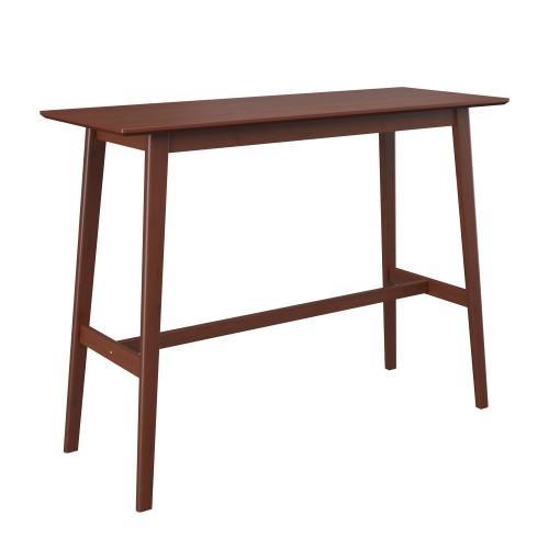 achat table de bar en bois fonce