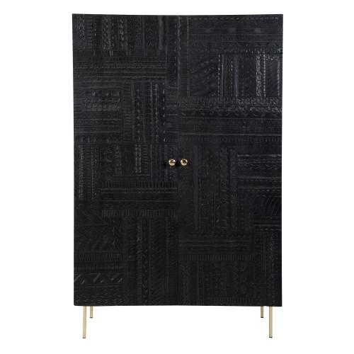 acheter armoire noire gravee