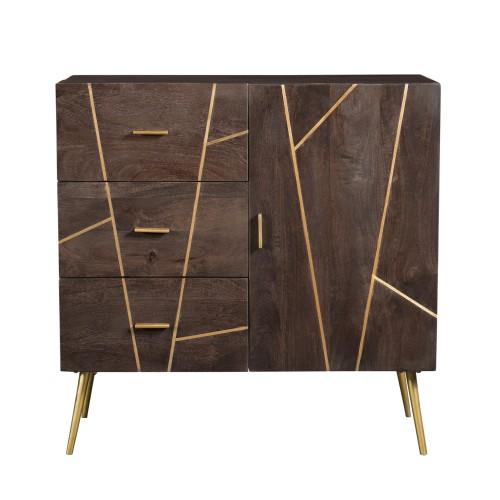 acheter buffet bois fonce design
