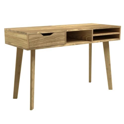 acheter bureau en bois clair naturel scandinave